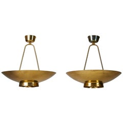 Pair of Ceiling Lamps Model 9060 Designed by Paavo Tynell for Taito Oy, Finland