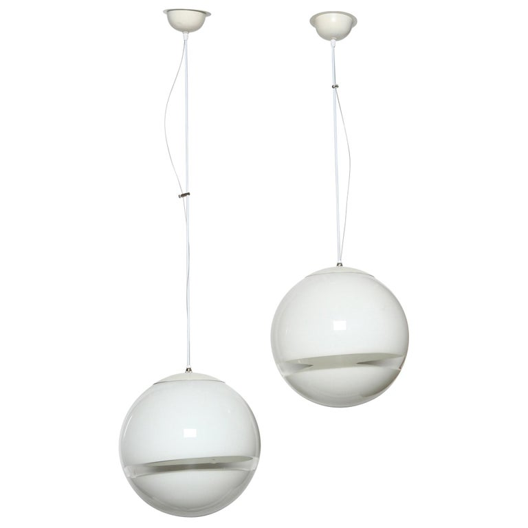 Pair of Ceiling Pendants by Leucos For Sale