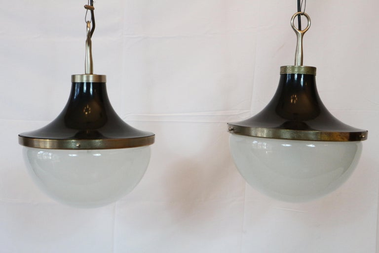 Pair of Ceiling Pendants Design by Sergio Mazza for Artemide