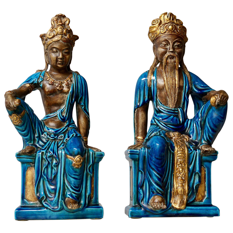 Pair of Ceramic Figurines Bu Ugo Zaccagnini