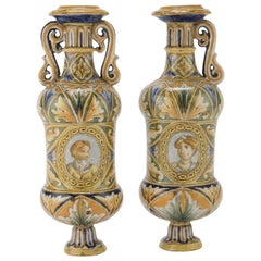 Pair of Ceramic Jugs by Italian School, 19th Century