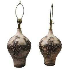 Pair of Ceramic Lamps by Lee Rosen for Design Techniques