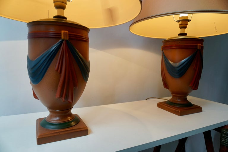 Pair of Ceramic Lamps by Louis Drimmer, France For Sale 6