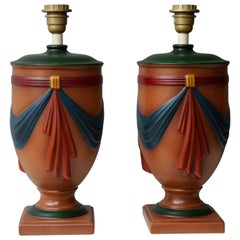Pair of Ceramic Lamps by Louis Drimmer, France