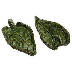 Pair of Ceramic Leaves, circa 1960