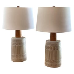 Pair of Ceramic Martz Lamps by Jane and Gordon Martz