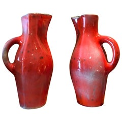 Pair of ceramic pitchers by Georges Jouve