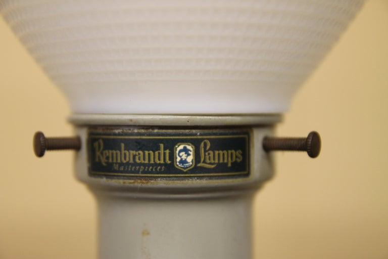 American Pair of Ceramic Rembrandt Table Lamps For Sale
