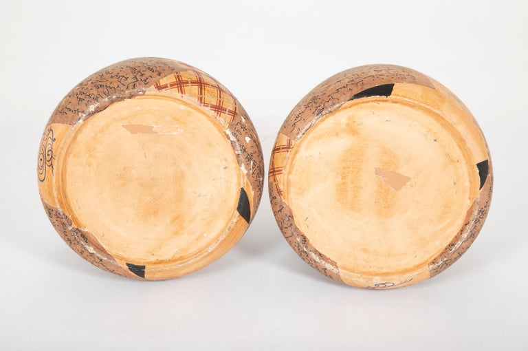 Pair of Ceramic Round Shaped Japanese Hibachi's For Sale 3