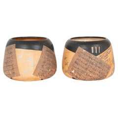 Pair of Ceramic Round Shaped Japanese Hibachi's