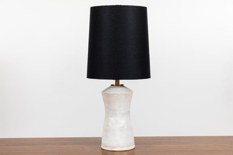 Pair of ceramic table lamps by Danny Kaplan.