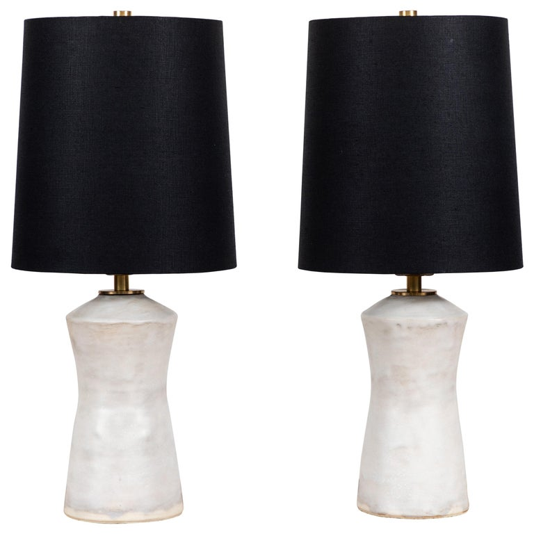 Pair of Ceramic Table Lamps by Danny Kaplan For Sale