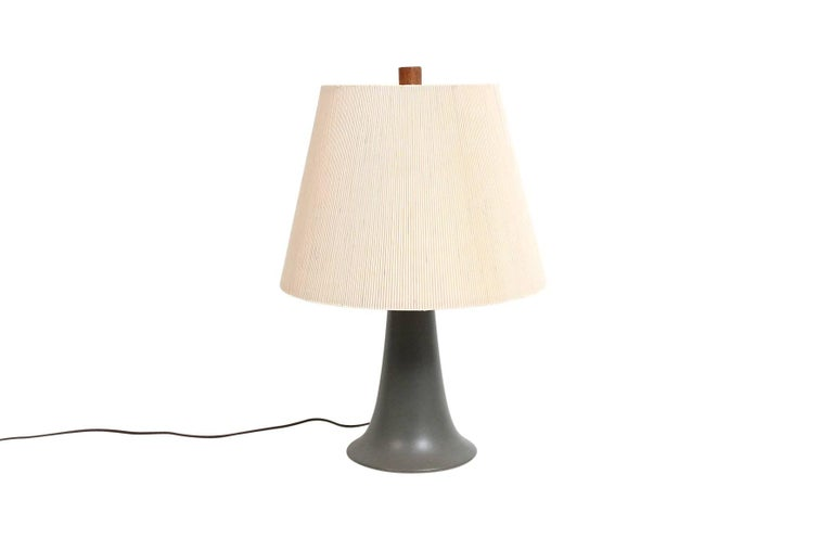 Mid-Century Modern Pair of Ceramic Table Lamps by Martz For Sale