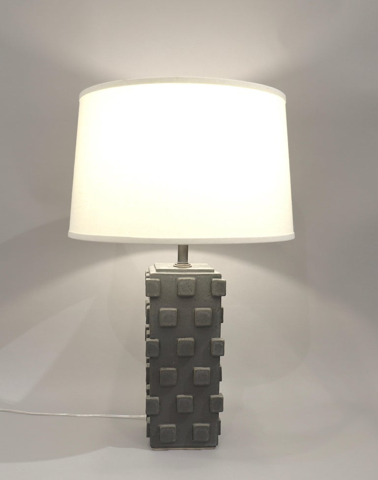 Contemporary Pair of Ceramic Table Lamps by Matthew Ward, 2018