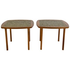 Pair of Ceramic Tile-Top Side Tables by Gordon and Jane Martz