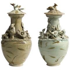 Pair of Ceramic Urns, Song Dinasty, China, 10th/12th Century