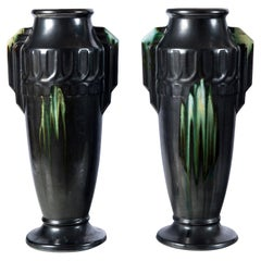 Pair of Ceramic Vases, Belgium, circa 1940