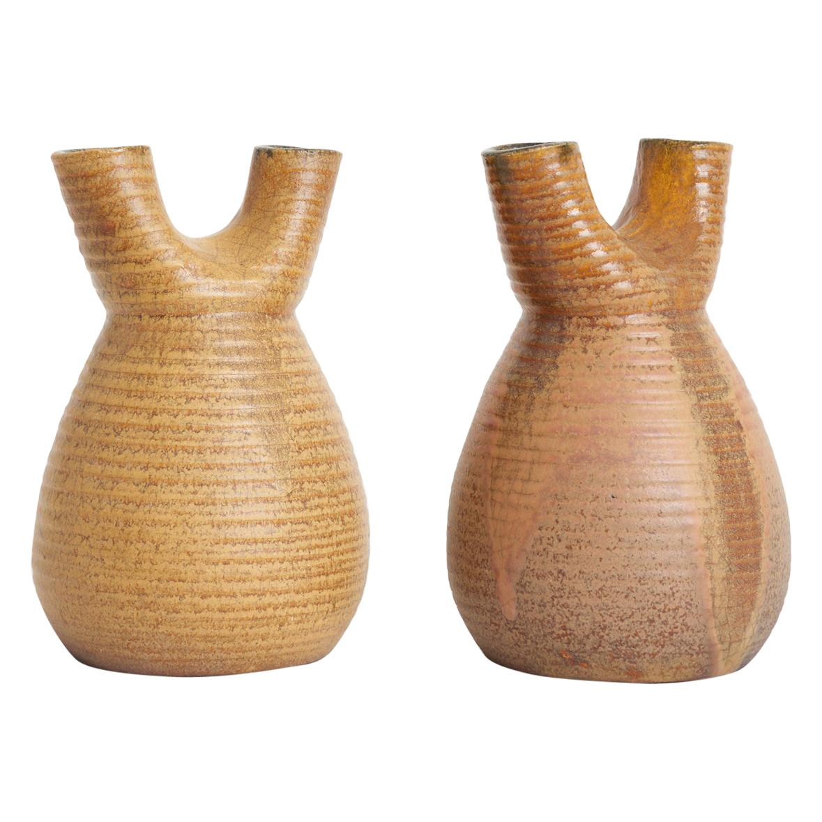 Pair of Ceramic Vases by Accolay