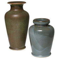 Pair of Ceramic Vases by Franco Bucci for Laboratorio Pesaro