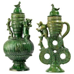 Pair of Ceramic Vases in the style of Saintonge or Pré d'Auge