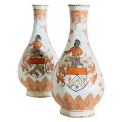 Pair of Ceramic Vases, Probably Holland, 18th-19th Century