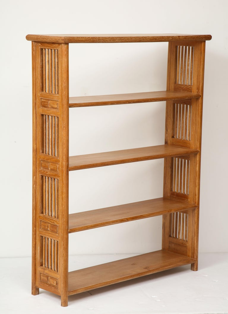 Pair of cerused oak bookcases in the vienna secessionist manner.