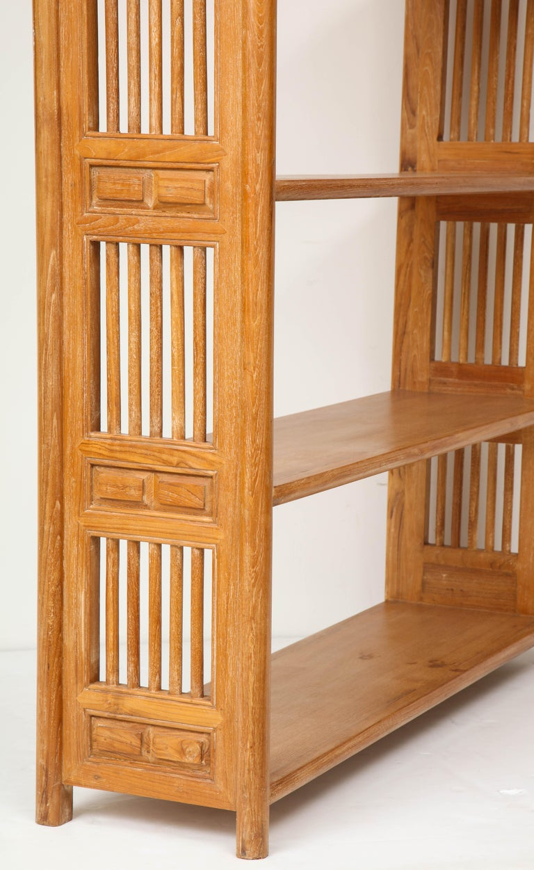 Wood Pair of Cerused Oak Bookcases in the Vienna Secessionist Manner For Sale