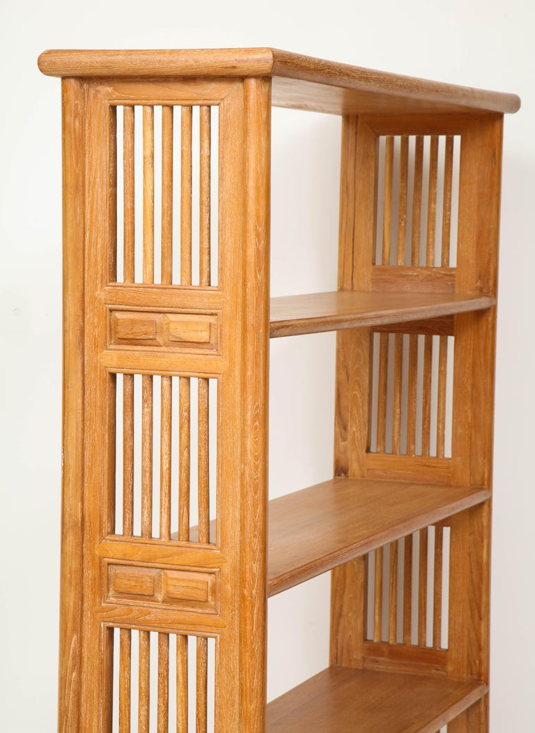 Pair of Cerused Oak Bookcases in the Vienna Secessionist Manner For Sale 1