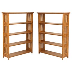 Pair of Cerused Oak Bookcases in the Vienna Secessionist Manner