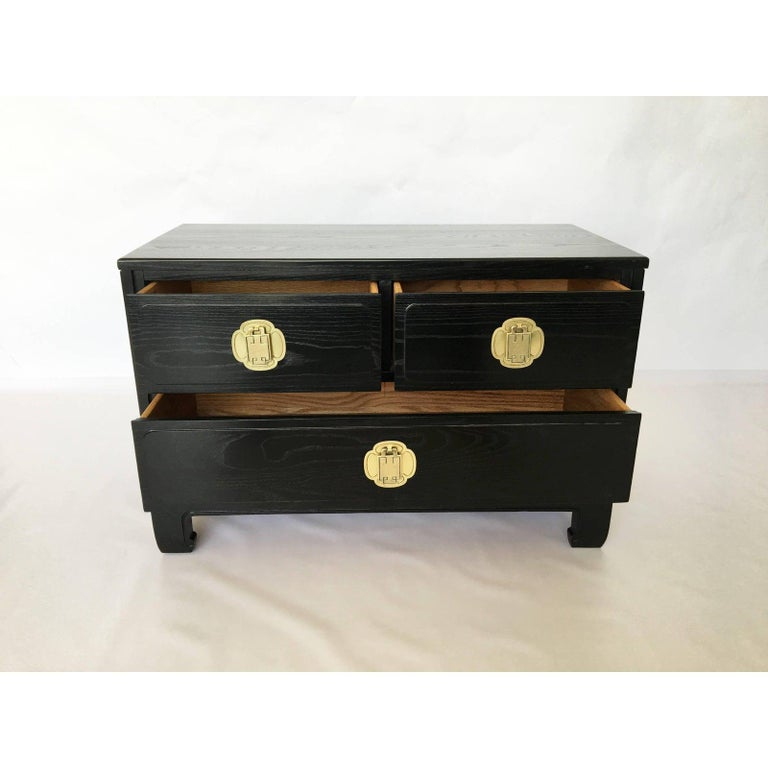 American Pair of Cerused Oak Nightstands or End Tables by Davis Furniture Co For Sale
