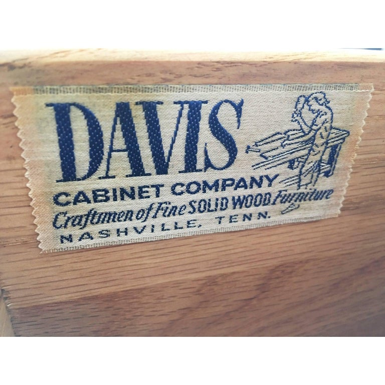 Pair of Cerused Oak Nightstands or End Tables by Davis Furniture Co For Sale 2