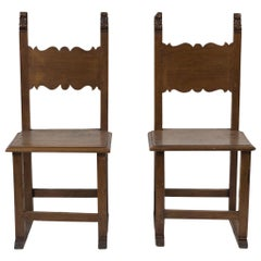 Pair of Chairs and a Stool, Italy, 19th Century