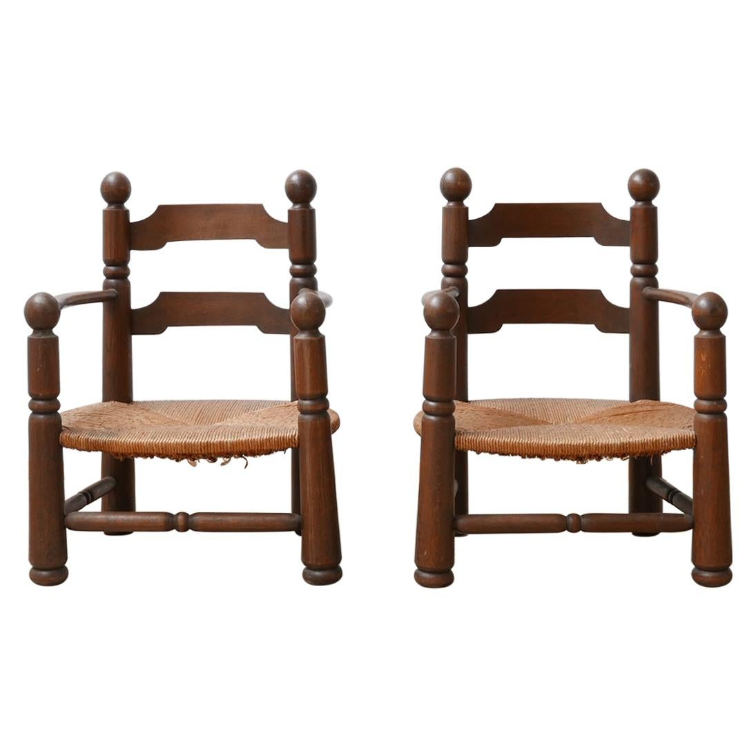 Pair of Chairs Attributed to Charles Dudouyt