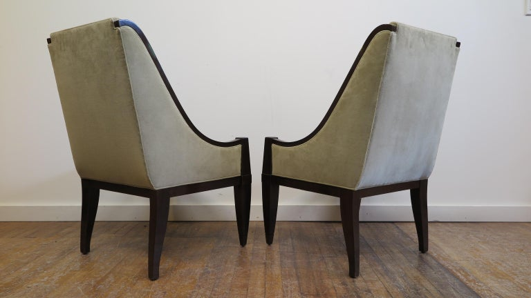French Pair of Chairs by André Sornay For Sale