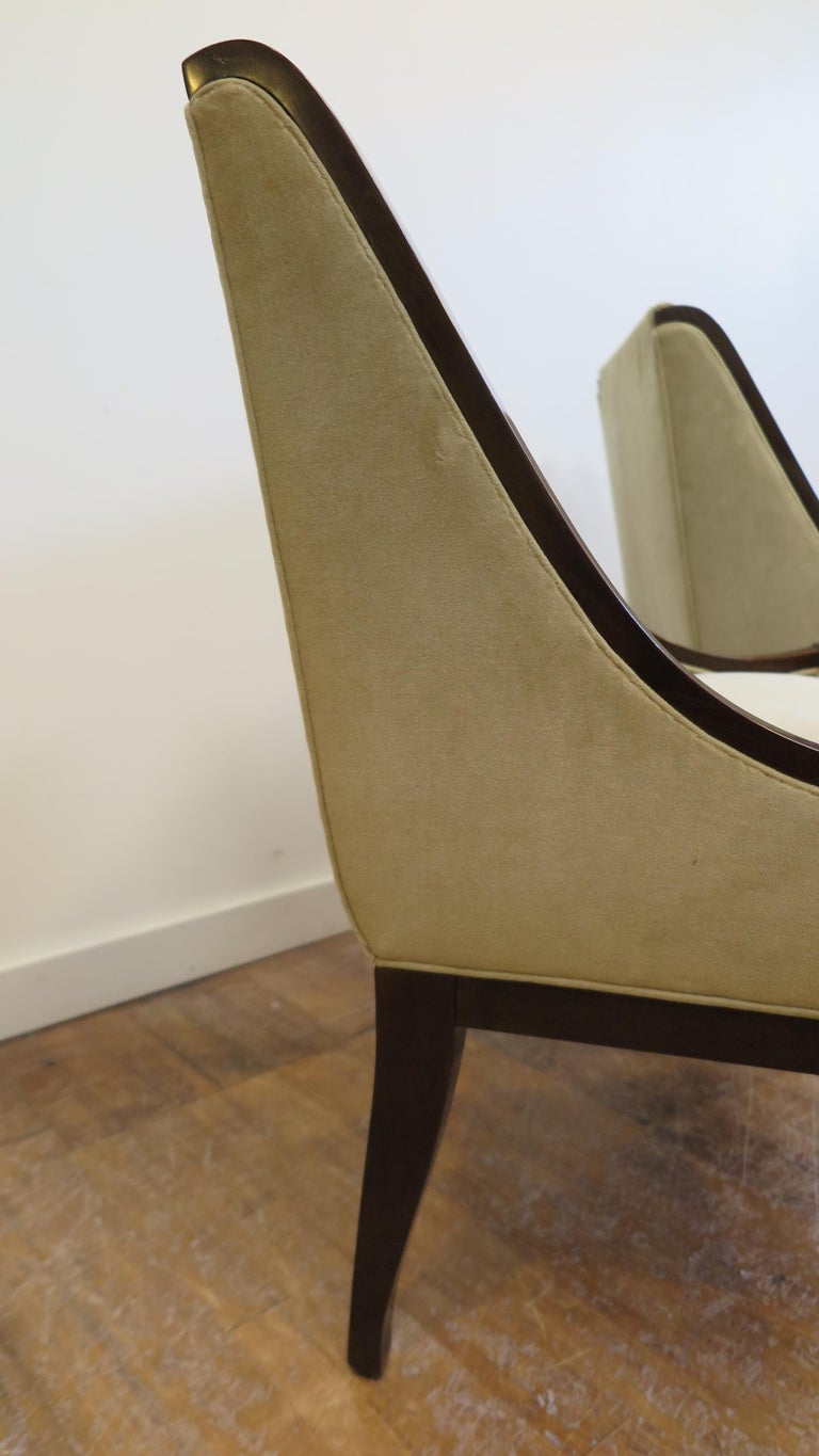 Walnut Pair of Chairs by André Sornay For Sale