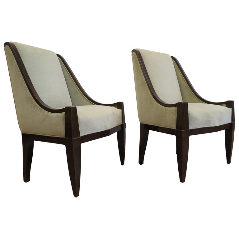Pair of Chairs by André Sornay For Sale