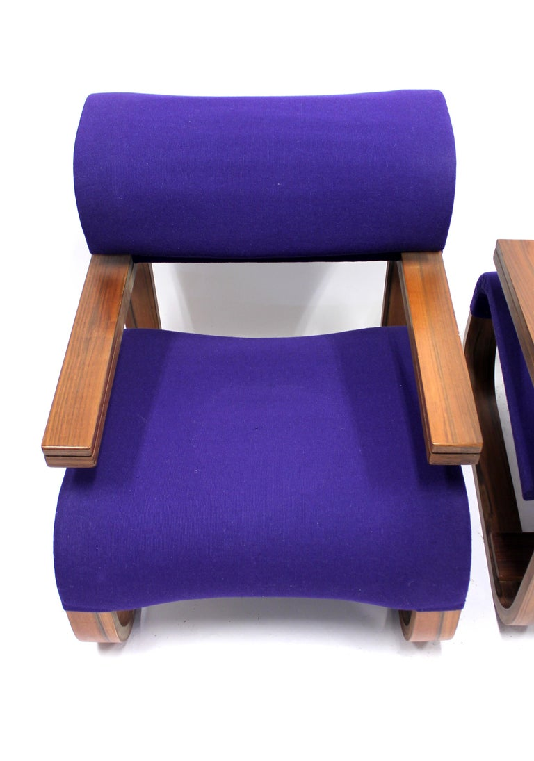 Pair of Chairs by Jan Bočan for the Czechoslovakian Embassy, Stockholm, 1972 For Sale 4