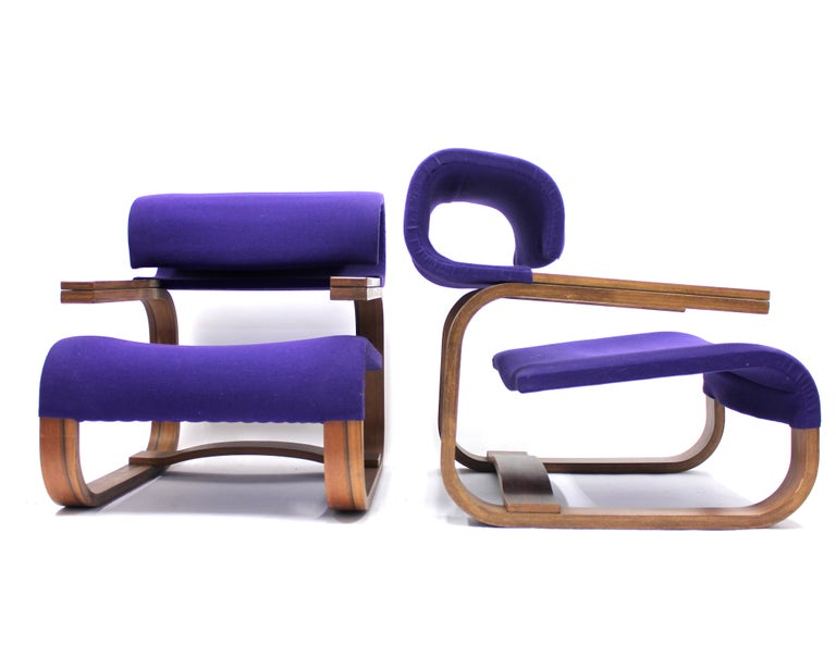 These chairs were designed by the award-winning architect Jan Bocan especially for the Czechoslovakian embassy in Stockholm that was built in the late 1960s and early 1970s. The project was finished in 1972. He also designed all the furniture for