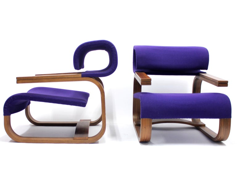 Pair of Chairs by Jan Bočan for the Czechoslovakian Embassy, Stockholm, 1972 In Good Condition For Sale In Uppsala, SE