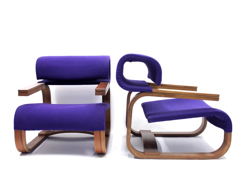 Late 20th Century Pair of Chairs by Jan Bočan for the Czechoslovakian Embassy, Stockholm, 1972 For Sale