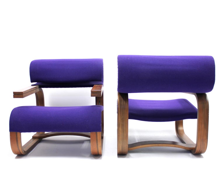 Pair of Chairs by Jan Bočan for the Czechoslovakian Embassy, Stockholm, 1972 For Sale 2