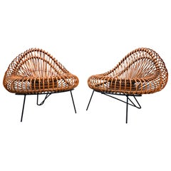 Pair of Chairs by Janine Abraham & Dirk Jan Rol for Edition Rougier, 1950s