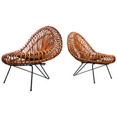 Pair of Mid-Century Chairs by Janine Abraham & Dirk Jan Rol,  Rougier, 1950s