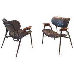 Mid Century Modern, Italian metal framed  chairs by Rima