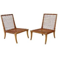 Pair of Chairs by T.H. Robsjohn-Gibbings Klismos for Saridis, Greece, circa 1960