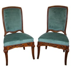 "Pair of Chairs ""cradles Pres"" Emile Gallé"