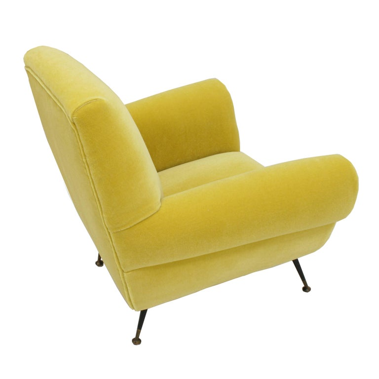 Mid-17th Century Pair of Chairs, Design of Gigi Radice for Minotti, Italy, 1950 For Sale
