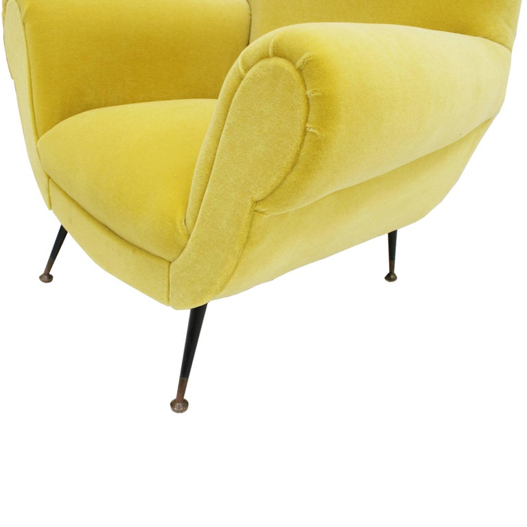 Brass Pair of Chairs, Design of Gigi Radice for Minotti, Italy, 1950 For Sale