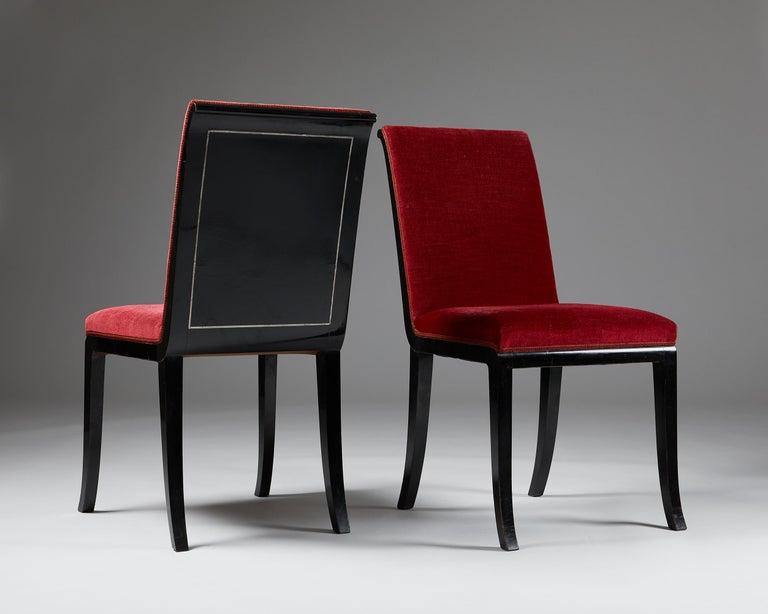 Mid-Century Modern Pair of Chairs Designed by Alvar Andersson for Hyresgästernas Möbelaffär For Sale