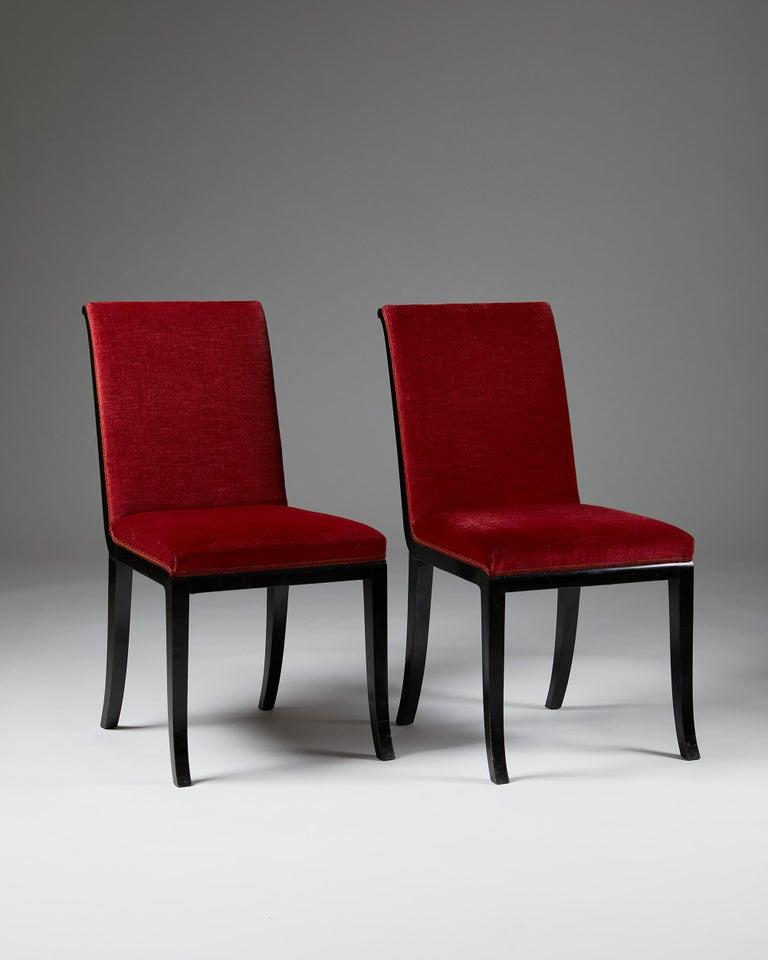 Swedish Pair of Chairs Designed by Alvar Andersson for Hyresgästernas Möbelaffär For Sale